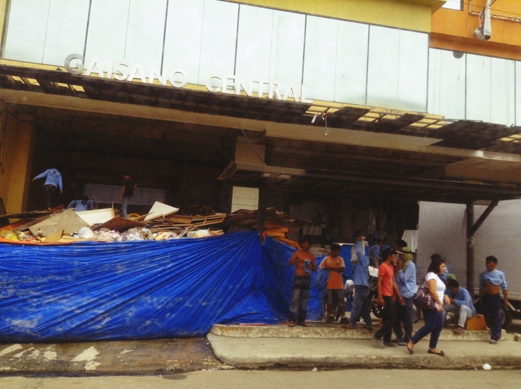 Gaisano Capital Central Tacloban City after typhoon Yolanda