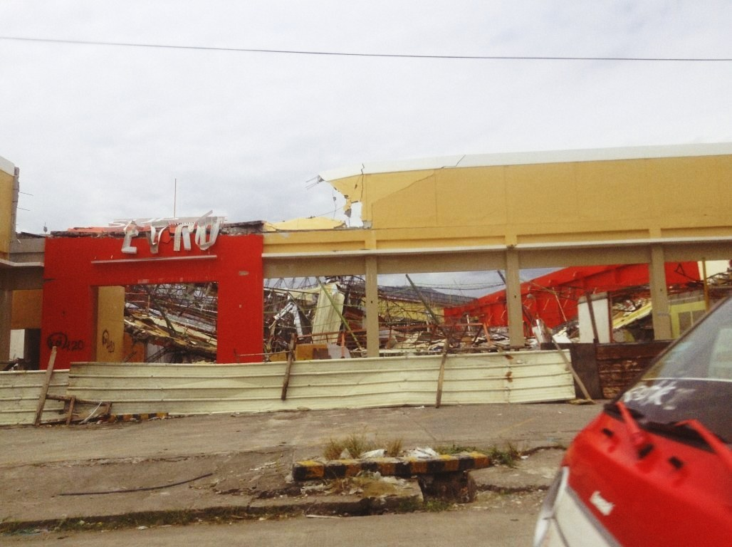 mitsubishi motors in tacloban city after typhoon yolanda