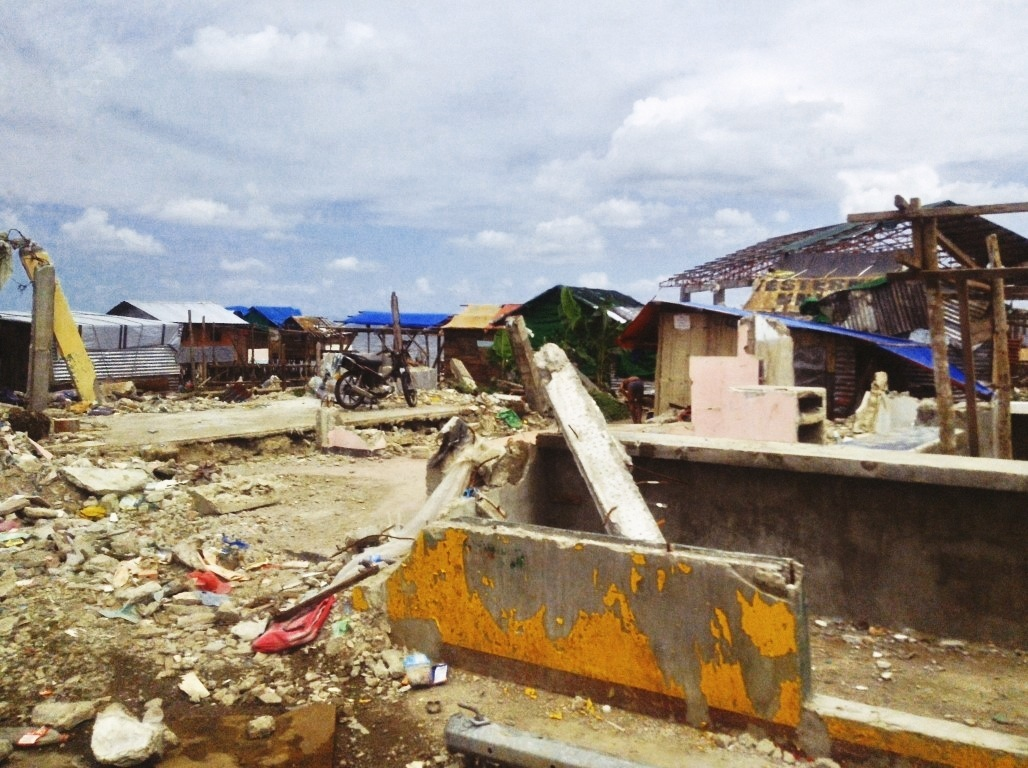 storm surge aftermath after typhoon yolanda