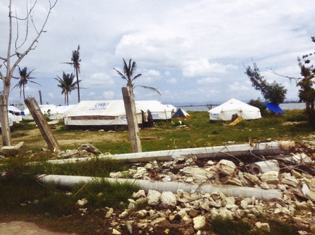 tents in tacloban city after typhoon yolanda