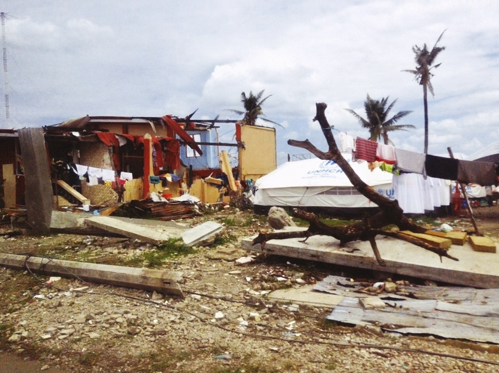 wrecked houses after the storm surge in tacloban city after typhoon yolanda