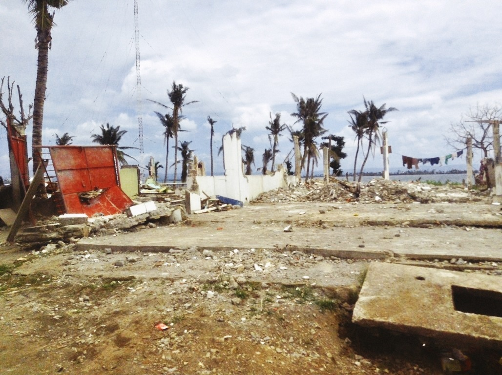 destroyed radio station in magsaysay highway in tacloban city after typhoon yolanda