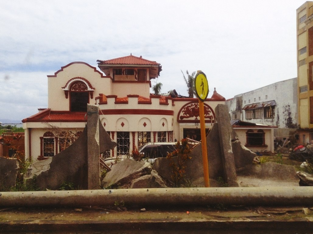 hotel along tacloban city astrodome after typhoon yolanda