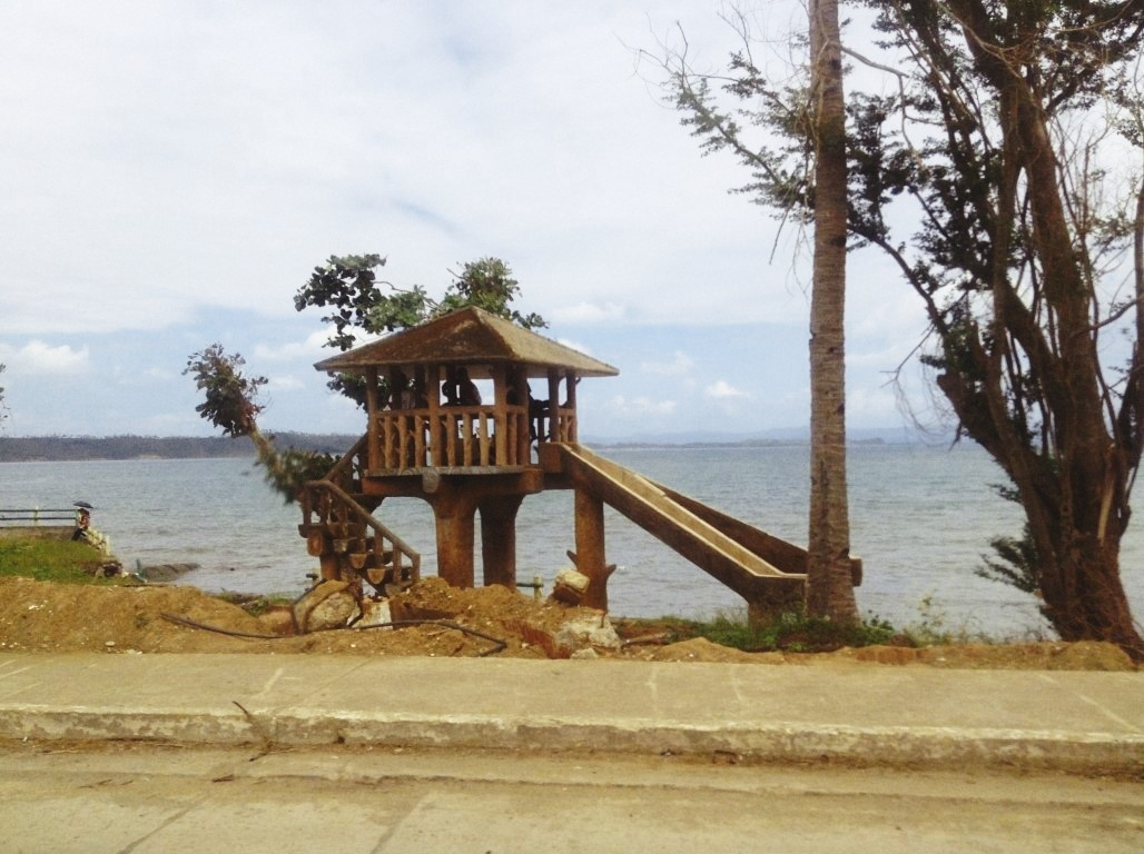 freedom park in tacloban city after typhoon yolanda