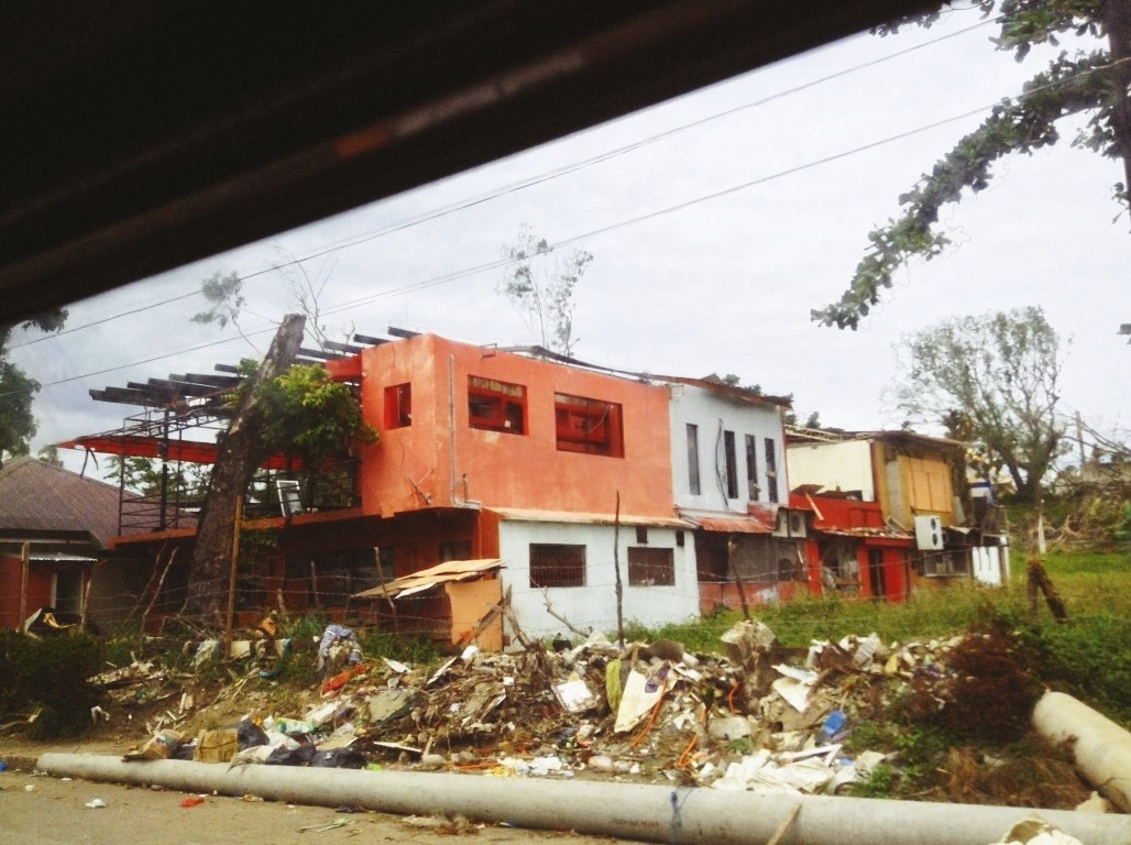 destroyed houses in tacloban city after typhoon yolanda