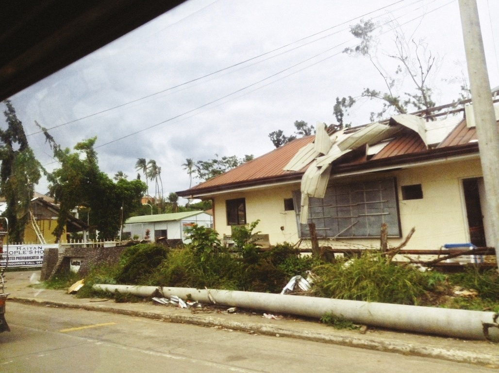 buildings near leyte park hotel tacloban city after typhoon yolanda
