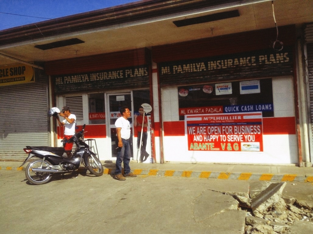 mlhuillier in v&g subdivision after typhoon yolanda