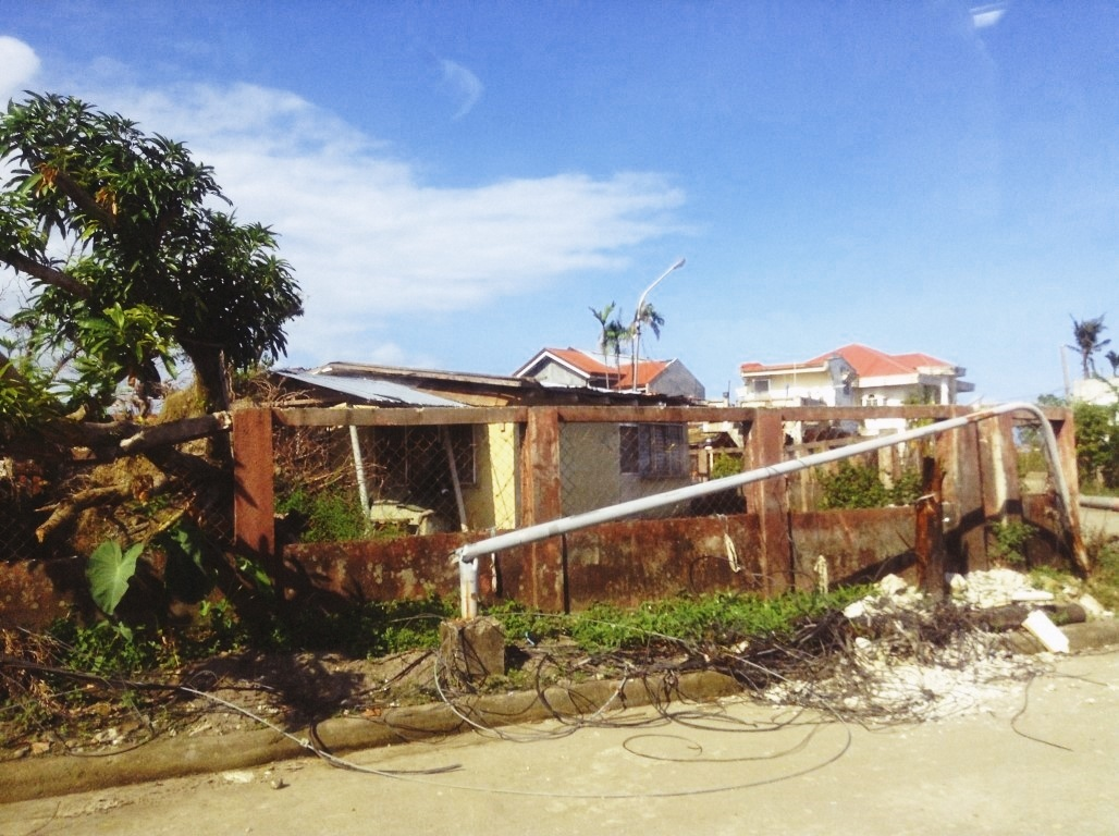 wreckage in V&G tacloban City after typhoon yolanda