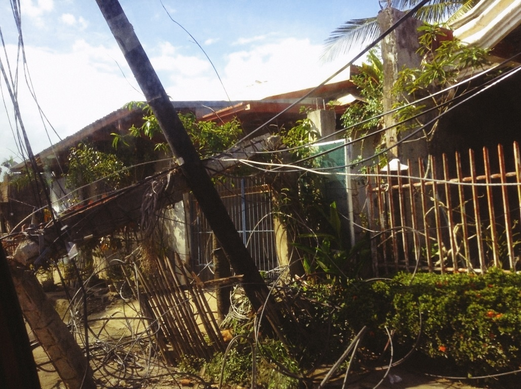 destruction in V&G tacloban City after typhoon yolanda