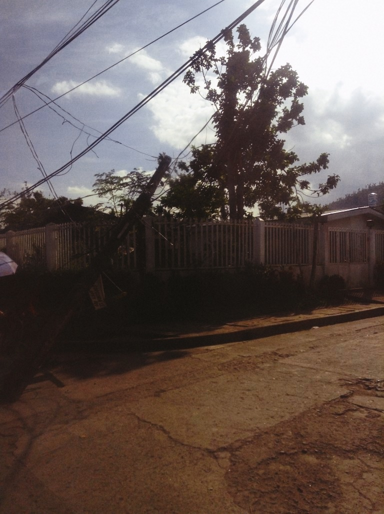 Torobay Street in V&G Subdivision Tacloban City after typhoon Yolanda