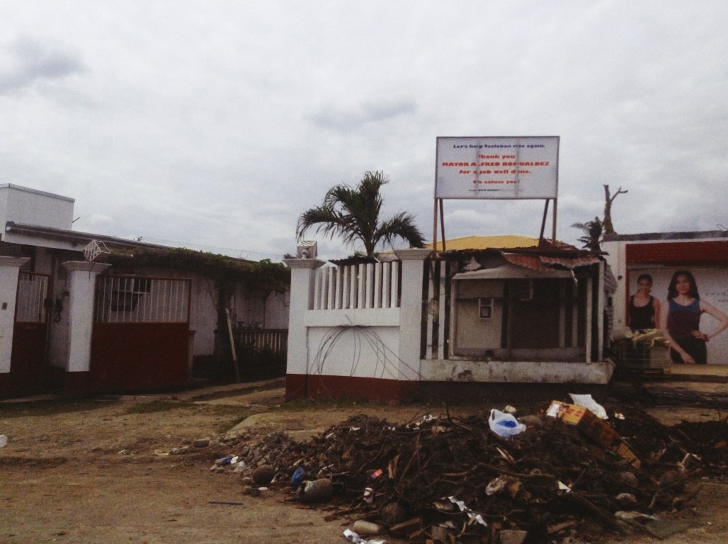 an waray office in tacloban city after typhoon yolanda