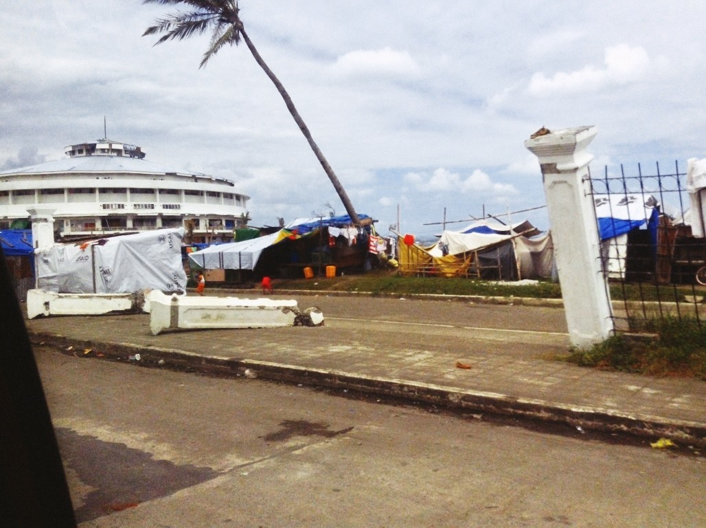 tacloban city astrodome after typhoon yolanda