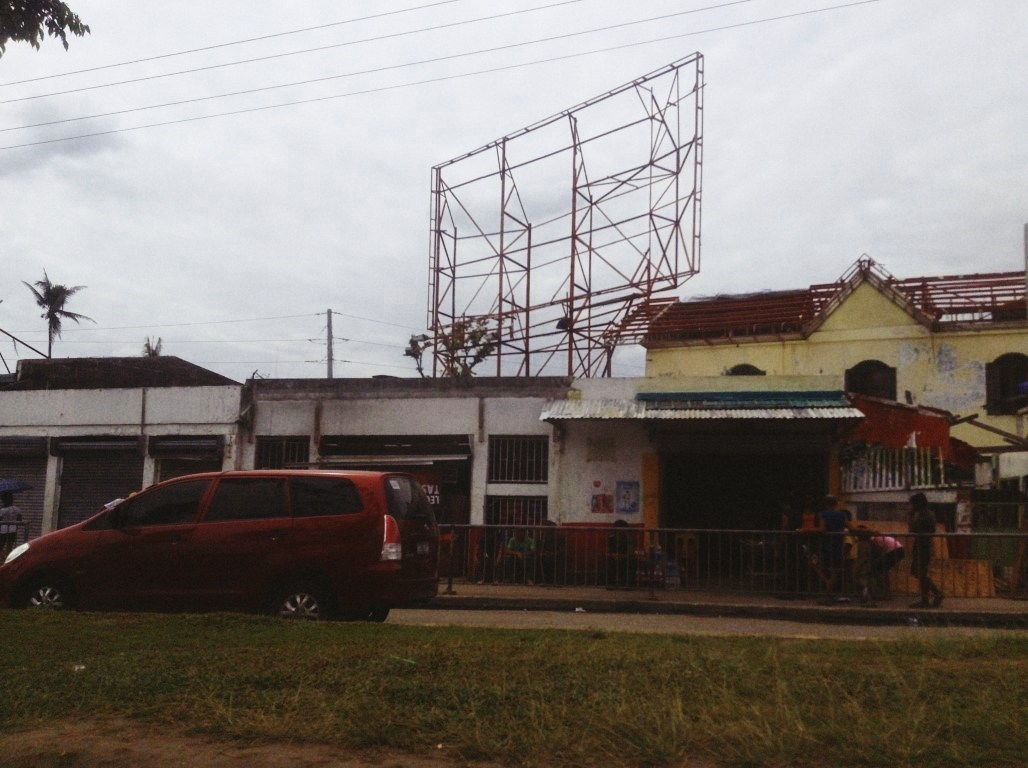 coca cola area in tacloban city after typhoon yolanda