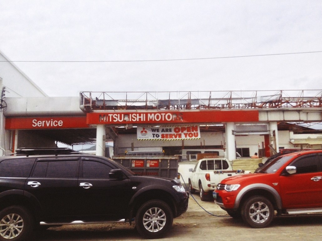mitsubishi motors office in tacloban city after typhoon yolanda