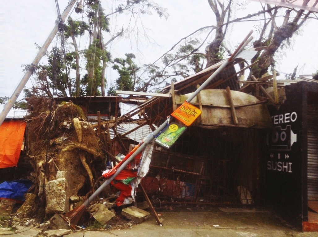 stereo sushi in tacloban city damage after typhoon yolanda